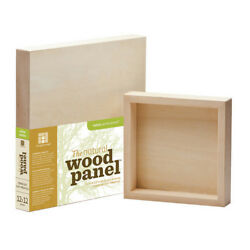 AMPERSAND ART SUPPLY WP153648 HEAVY DUTY NATURAL BASSWOOD PANEL 1.5 INCH CRAD...