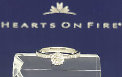 0.72 ct 18K White Gold HOF Hearts on Fire Round Cut Diamond Engagement Ring $6k
