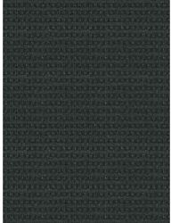 Foss Checkmate Charcoal Black 6 ft.x 8 ft.Indoor Outdoor Rug Polyester Carpet