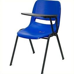 Flash Furniture RUT-EO1-BL-LTAB-GG Blue Ergonomic Shell Chair with Left Handed