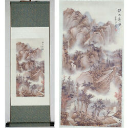 Home decor Chinese silk scroll painting stream painting