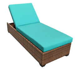 Outdoor Patio Wicker Chaise Lounge Chair Furniture Aruba