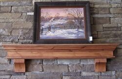 Knotty Alder Wood Mantels Custom Sized And Stained To Order