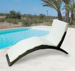 Outdoor Chaise Lounge Patio Rattan Chair Pool Deck Recliner Furniture Folding