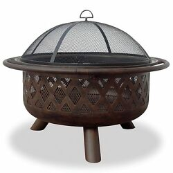 Wood Burning Fire Pit Bowl Portable Large Outdoor Steel Metal Patio Fireplace