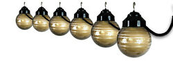Outdoor String Lights For Patio Party Decorative Deck 6 Globe Black Bronze New