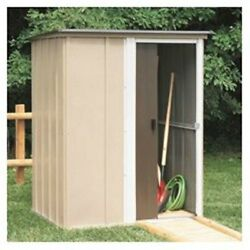 Garden Shed Outdoor Storage Yard Cabin Durable Steel Protective Kit 5x4 Ft