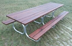 10 picnic tables 12' long with aluminum frame