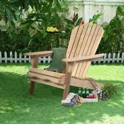 Outdoor Adirondack Wood Chair Foldable Patio Lawn Garden Furniture WPlans