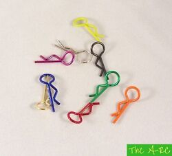 The A RC Small RC Bent Body Clips Pins x10 10 Colours Available GBP 12.50