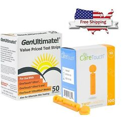 GenUltimate Blood Glucose 50 Test Strips One Touch UltraUltra 2Ultra Mini