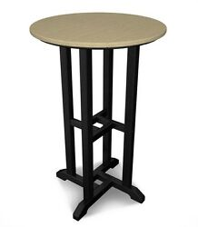 Black Frame Sand Top Outdoor Patio Bar Height Dining Table Home Furniture Round
