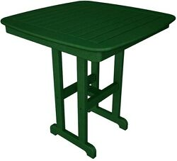 POLYWOOD Nautical 37 in. Green Patio Counter Table