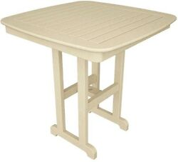 POLYWOOD Nautical 37 in. Sand Patio Counter Table