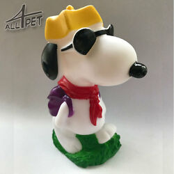 SNOOPY Dog Toys Squeaky Chew Rope Strong Rubber GBP 4.99