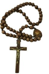 Glow in the dark Rosary Necklace extra long 49quot; Religious wall room Rosary $13.99