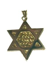 Star of David - Magen David - 14 k White and Yellow Gold Pendant- 3.7 grams