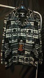 mastermind JAPAN Ethnic Print Cashmere Coat 2012FW Size L Negotiations Welcome