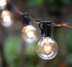 Globe String Lights with Clear Bulbs Indoor Outdoor Patio Garden Porch Cafe Tent