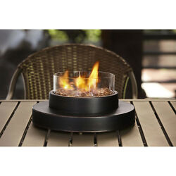 TABLETOP FIRE BOWL PROPANE GAS OUTDOOR PATIO PIT HEATER OIL RUBBED BRONZE NEW