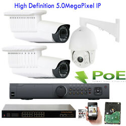 32Ch NVR 5MP 2592P PoE IP ONVIF WDR Outdoor 31 +1pc PTZ Security Camera System
