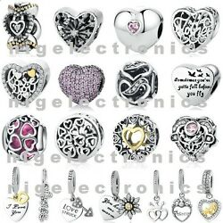 Authentic 925 Sterling Silver I Want Your Love Charms fit Euro Charm Bracelet