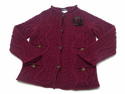 Auth Chanel Wine Red Cashmere Knitted Cardigan Ladies #38 (DH37439)