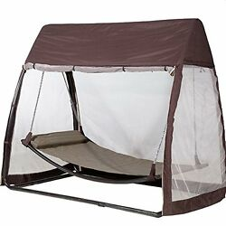 Outdoor Canopy Tent Hanging Swing Hammock Cover Patio Furniture + Moquito Net