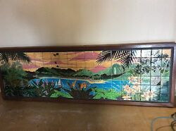 Original Ceramic tile mural by Marlo Bartells. Beautiful tropical scene