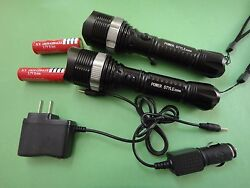 2X 1600 LM 50W LED rechargable Torch Zoomable flashlight 186502X charge USA $21.92