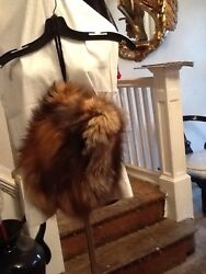Fox Fur Hand Glove Warmer Muff