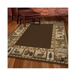 Home and Kitchen Rugs Indoor Outdoor Rug Rugged Area Wildlife Animals Rustic