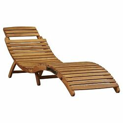 Patio Furniture Chaise Lounge Folding Wood Modern Chair Garden Outdoor Seat Bed