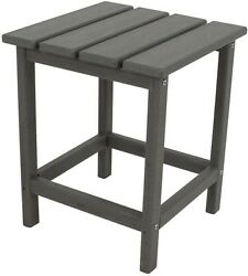 Table Patio Side Outdoor Furniture Chair Lounge Stand Grey POLYWOOD Long Island