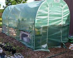 Heavy Duty Portable Green House Cover Kit Plant House Walk In Plastic Tunnel New