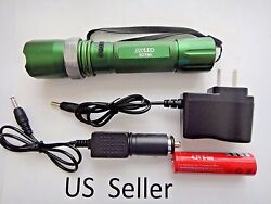 Brand new 800 LM 50W LED rechargable Zoomable Torch flashlight Lamp GREEN 06 $8.93