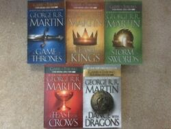 Game of Thrones 1 5 set Martin PB lot A Song of Ice and Fire series Dance Feast $21.99