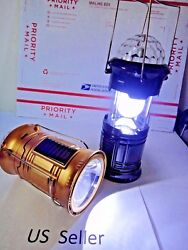 3 in 1 Solar Panel rechargeable outdoor camping Flashlight Lantern lamp