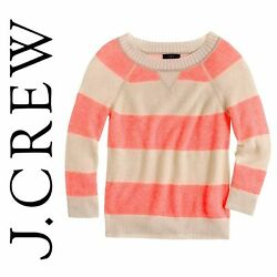 J Crew Collection Cashmere Plaited Striped Sweater Small