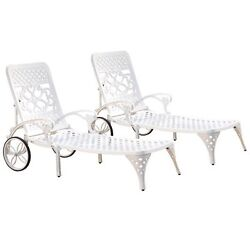 Chaise Lounges Home Styles Biscayne Chaise Lounge Chair White