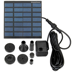 Solar Water Fountain Pump Kit Small Outdoor Garden Pond Yard Patio Decoration NW