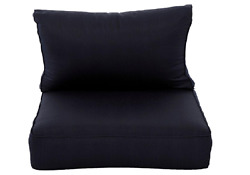 Naples Navy Seat Replacement Outdoor Patio Lounge Chair Cushion