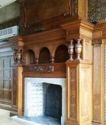 Antique Flemish Marquetry Fireplace Surround & Matching BoiseriePaneling