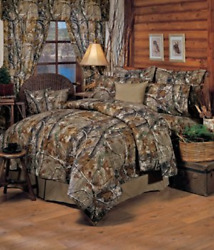 Realtree All Purpose Camouflage Queen 13 Pc Bedding Set Comforter 1 Flat Sheet