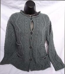 CHANEL SCOTTISH COLLECTION 2013 SZ 44 CARDIGAN GREEN CASHMERE SWEATER UNWORN