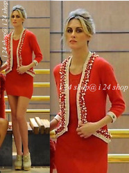 CHANEL 10P  $5.5K LESAGE PEARL CORAL-RED CASHMERE CARDIGAN JACKET- 40 42  NEW