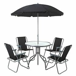 Outdoor Dining Set Patio Furniture Bistro 4 Chairs Table Umbrella Home Garden