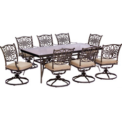 Patio Furniture Dining Sets Chairs Table Garden Outdoor Backyard Swivel 9 Piece
