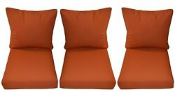 Indoor  Outdoor Ember Orange Cushion Sets for Patio Deep Seating Furniture Sofa