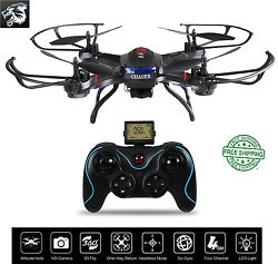 Remote Helicopter F181 RC Quadcopter Drone with HD Camera RTF 4 Channel 2.4GHz $139.99